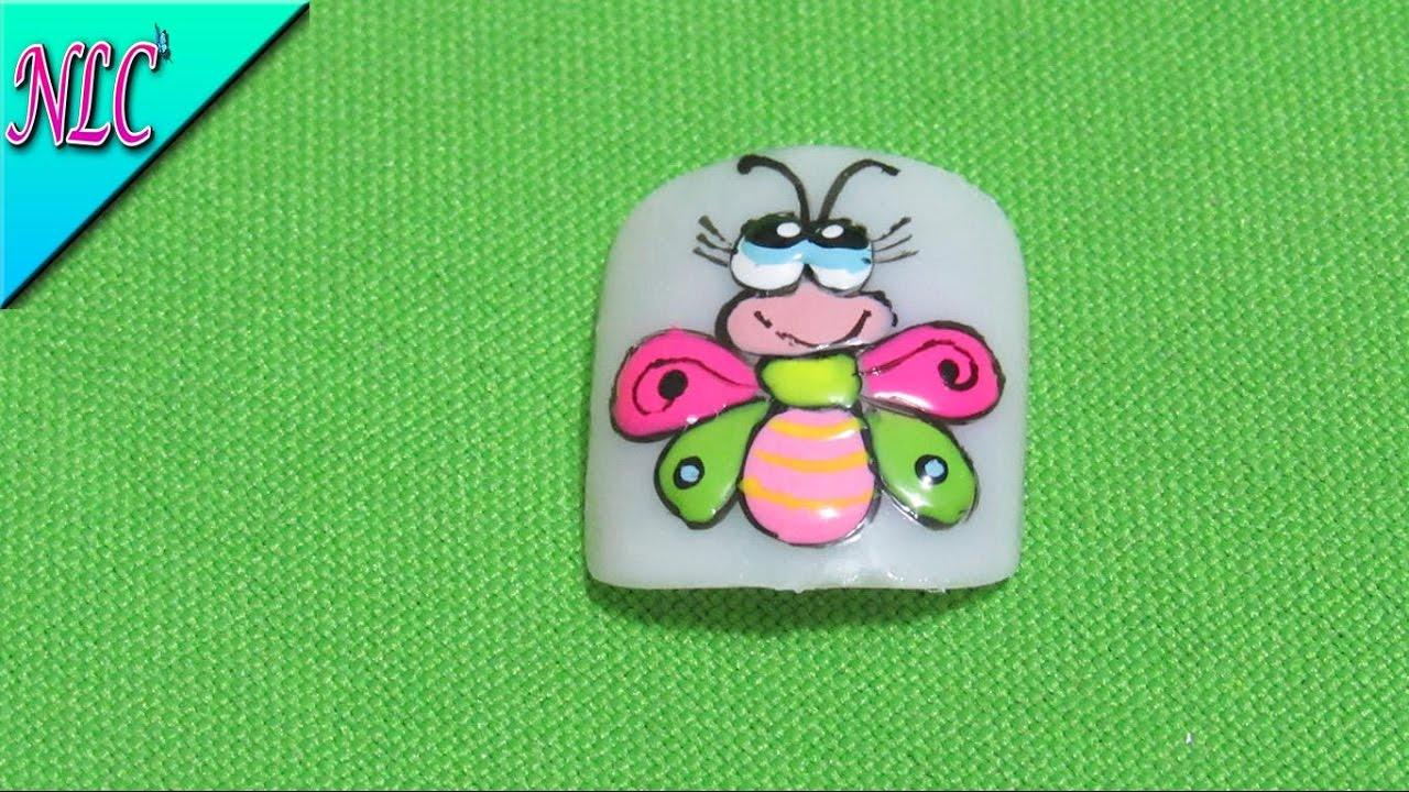 Decoración de uñas Libélula - Como pintar Libélulas en las uñas ...