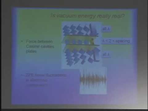 SSE Talks - Energy from the Vacuum - Garret Moddel - 1/3