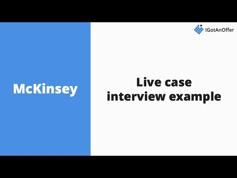 McKinsey Live Case Interview Example - YouTube