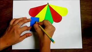 Umbrella Cut and Paste - Paper Craft Activity