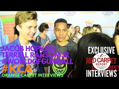 Jacob Hopkins & Terrell Ransom Jr WorldOfGumball at 2017 Kid's Choice Awards Red Carpet KCA