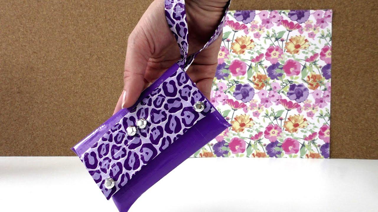 duck tape handyt schche eigene tasche miniclutch mit. Black Bedroom Furniture Sets. Home Design Ideas