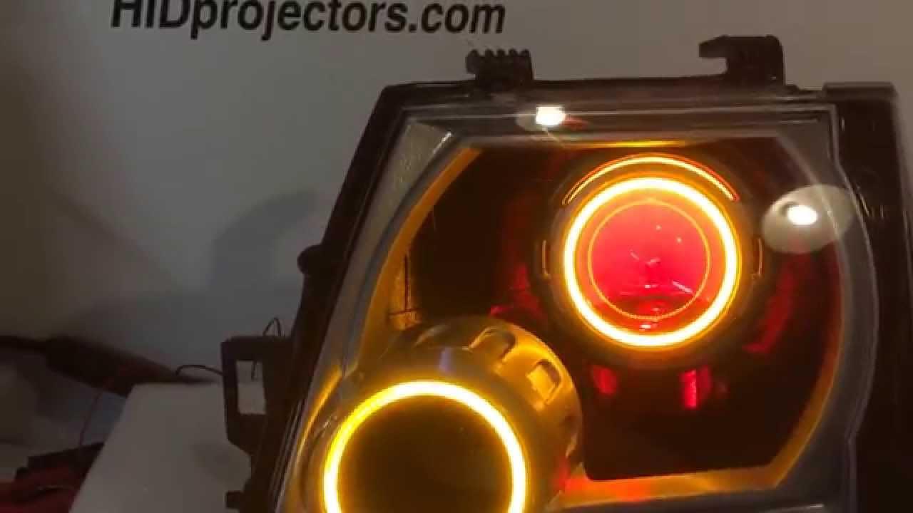 Nissan Xterra Headlight Retrofit Sealed Custom Angel Eyes