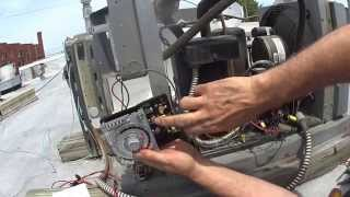 Trouble shoot a refrigeration condensing unit