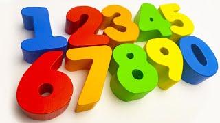 ПЛАСТИЛИНОВЫЕ разноцветные ЦИФРЫ - Учимся считать от 1 до 20