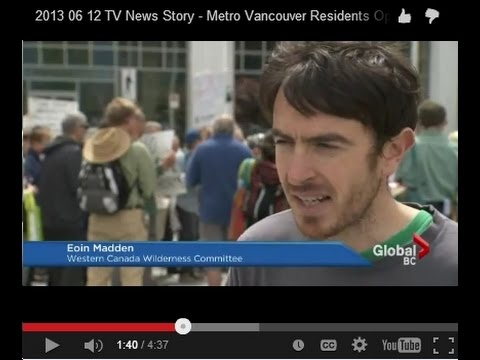 2013 06 12 TV News Story - Metro Vancouver Residents Oppose US Coal Exports
