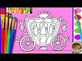 Paint coloring page disney royal carriage coloring for girls how to draw for kids learning videos mp3