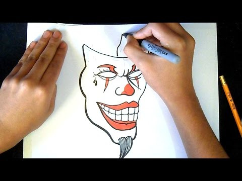 как рисовать  маска клоуна | граффити