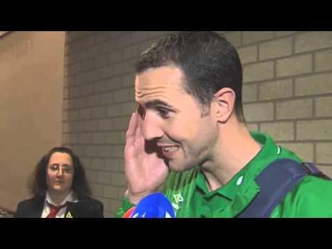 Germany v Republic of Ireland - Post Match Interview - John O'Shea (14/10/14)