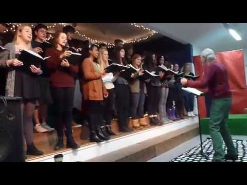The Thacher Chamber Singers stopped by Monica Ros School to spread a little holiday cheer.