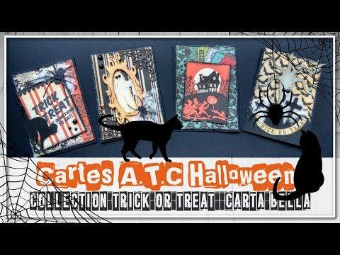 [CARTES A.T.C] Cartes ATC Halloween Collection Trick or Treat de Carta Bella
