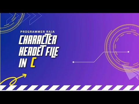 Character Type Header File In C Programming || C Programming Tutorial thumbnail