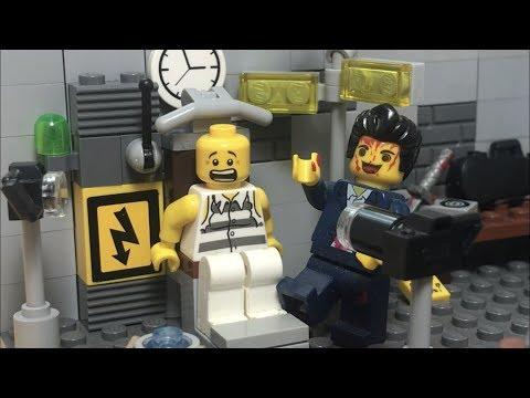 Лего Самоделка на тему Маньяк! Секретный подвал Маньяка! Электрический стул!