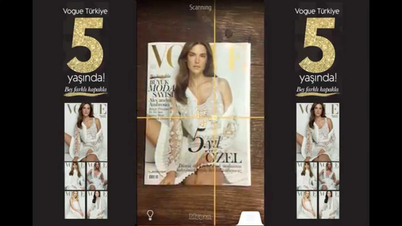 Vogue Türkiye Blippar Deneyimi