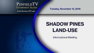 2018-11-13 Shadow Pines Land Use Advisory Committee Meeting