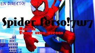 Soja Spiderman en roblox!!!! [Super-Helden-Tycoon] en directo