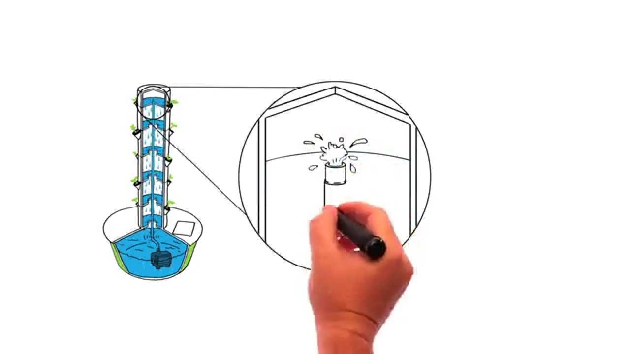 Vertical Aeroponic Technology See How Tower Garden Works YouTube