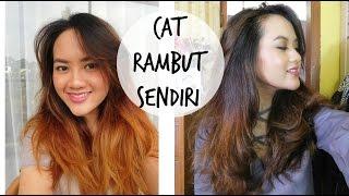 TUTORIAL CARA CAT RAMBUT SENDIRI DI RUMAH w/ Full Proses   DIY Dye Hair Ashy Color - Darken my Ombre