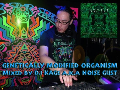 Psytrance Mix video: NABI-records - DJ set: Kage (Noise Gust - Japan) Genetically Modified Organism