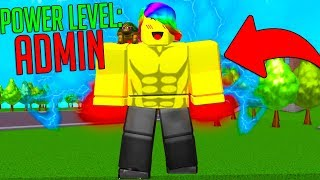Becoming STRONGER Than an ADMIN! (Roblox Super Power Training Simulator)