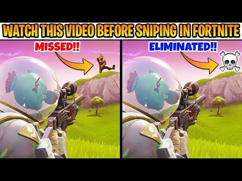 10 Fortnite SNIPING SECRETS for Beginners (NOOB SNIPERS ONLY)
