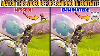 10 Fortnite SNIPING SECRETS for Beginners (NOOB SNIPERS SEULEMENT) chaos