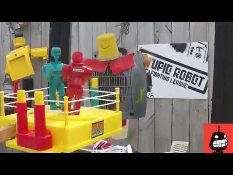 Smashing Rock'em Sock'em Robots into a Stupid Robot's face (15 seconds)