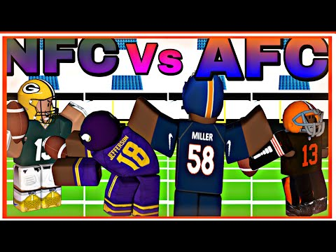 Which AFC and NFC team has the best Uniform!!!! (Roblox Football fusion)