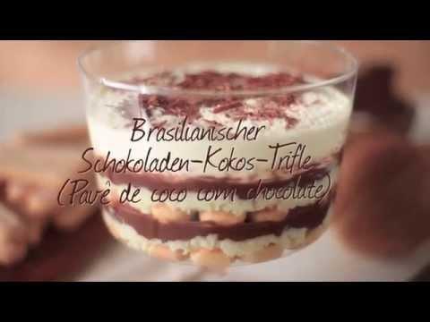 Rezept: Brasilianischer Schokoladen Kokos Trifle (Pavê de coco com chocolate)