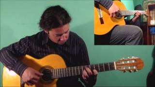 Peace (a theme). King Crimson, arrangement guitar (cover), arreglo guitarra.