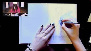 "Онлайн-урок скетчинга ""Кристаллы и мандала"". Лиза Краснова Let's Travel! Sketch"