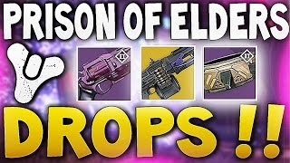 Destiny - PRISON OF ELDERS EXOTIC DROPS ! (House of Wolves)