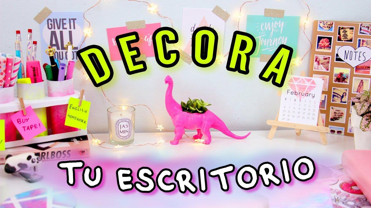 Haz DECORACIONES para tu ESCRITORIO! Transforma tu escritorio FÁCIL!