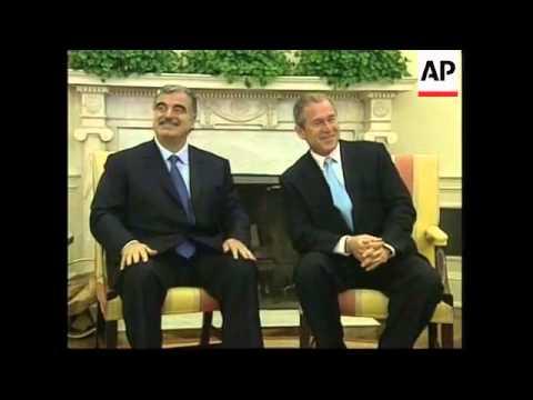 Lebanese PM meets President Bush