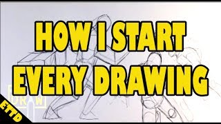 How I start Every Drawing - Easy Things to Draw