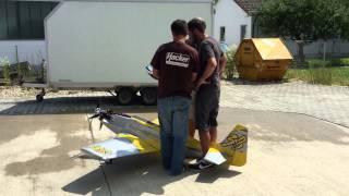 contra rotating propeller system - test #1 - P51 Precious Metal