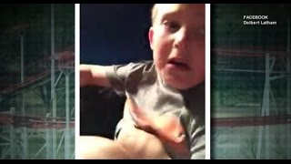 Father Saves Son After Roller Coaster Seat Belt Breaks [CAUGHT ON TAPE]