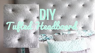 DIY Glam Tufted Headboard / Daughter Room Makeover Phase 4