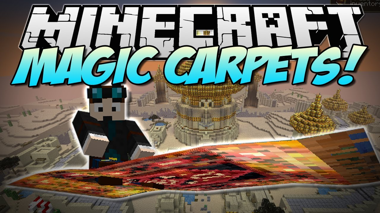 Minecraft Magic Carpet Fly Like Aladdin Mod Showcase  Youtube