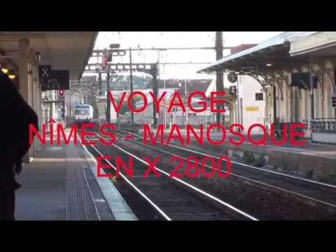 1/2 - Train Bleu du Sud : voyage en cabine  de l'X2819 de l'AP2800 - HD vidéo 235