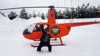Мишка Первый Раз В Небе! Запускаем На Вертолёте Robinson 44! Ой Что Будет!
