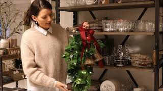 Dørpynt - sådan laver du enkel og nem juledørpynt