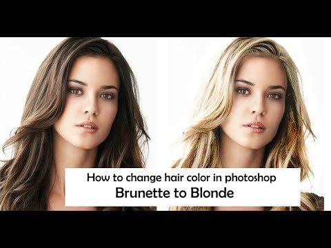 How To Change Hair Color In Photoshop Cs6 Brunette To Blonde