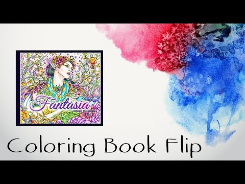 Flip Through Of Fantasia Coloring Book By Nicholas F