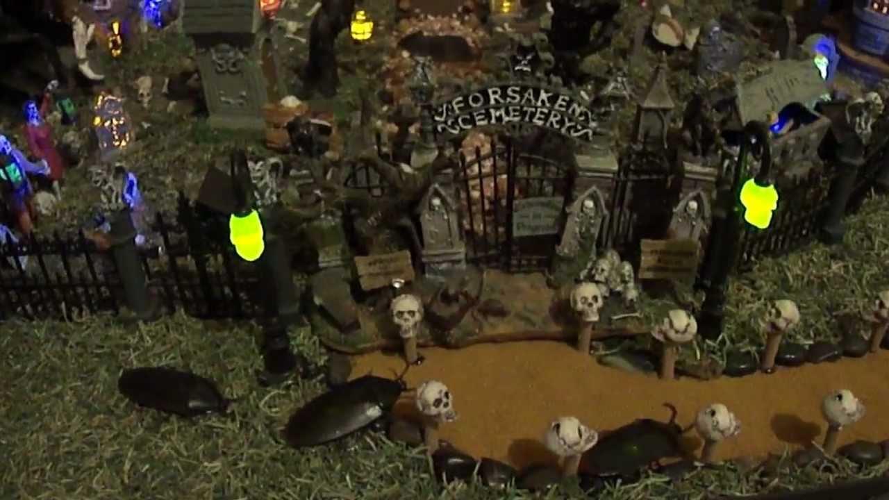 Animated Christmas Desktop Wallpaper Spooky Town Halloween Village 2012 Youtube