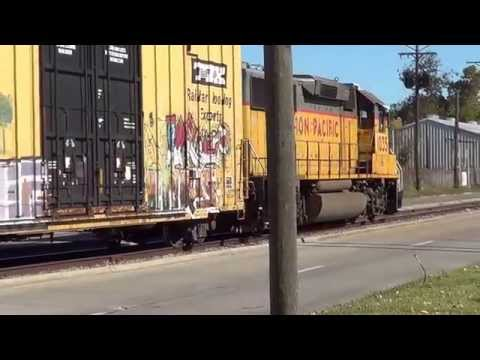 Union Pacific Loco on a Freight .2014.