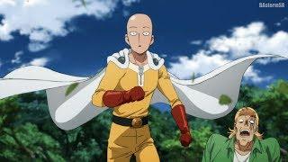 Бэнг, Бомб, Генос и Сайтама против Многоножки Старейшины [One Punch Man 2]