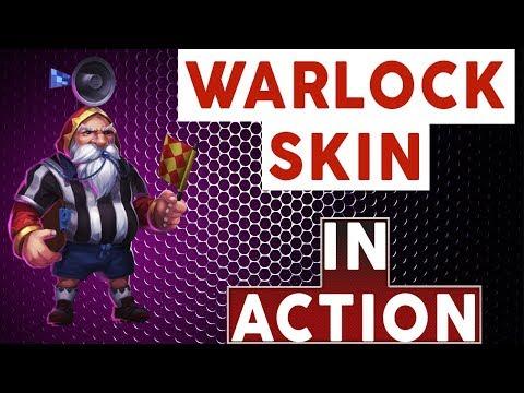 WARLOCK NEW SKIN | IN ACTION | CASTLE CLASH