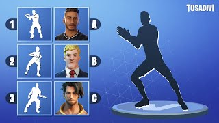 GUESS THE DANCE AND THE SKIN - FORTNITE CHALLENGE - PART #6 | tusadivi