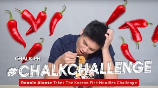 Ronnie Alonte Takes The Korean Fire Noodles Challenge
